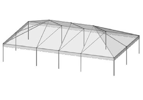 30x50 Frame Tent - THIS IS MEDIA - G & K Event Rentals