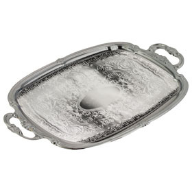 Rectangular Chrome Tray With Handles This Is Media G