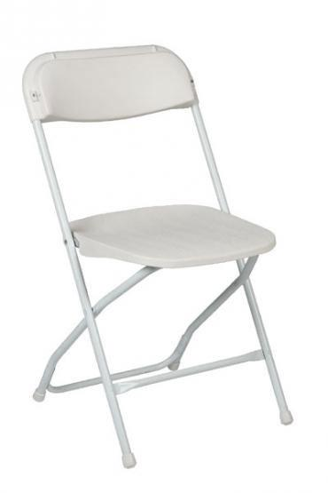 White Folding Chair THIS IS MEDIA G & K Event Rentals