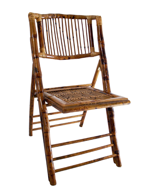 bamboo folding chair THIS IS MEDIA G & K Event Rentals
