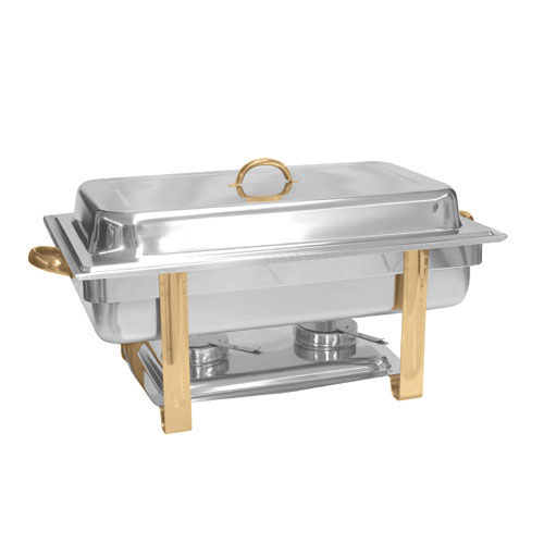 Chafer 8qt Gold Trim This Is Media G Amp K Event Rentals