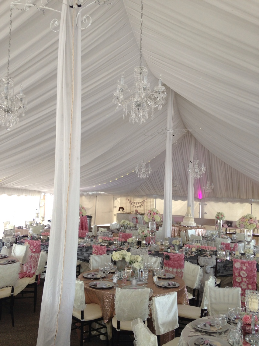 Vintage Glamour Tent Wedding Rent Today G Amp K Event