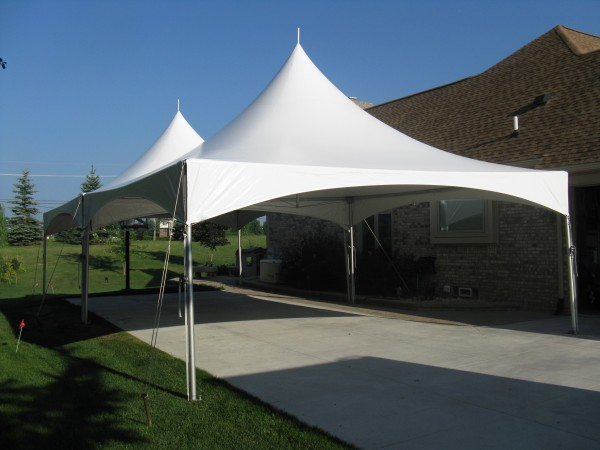 frame tent over patio