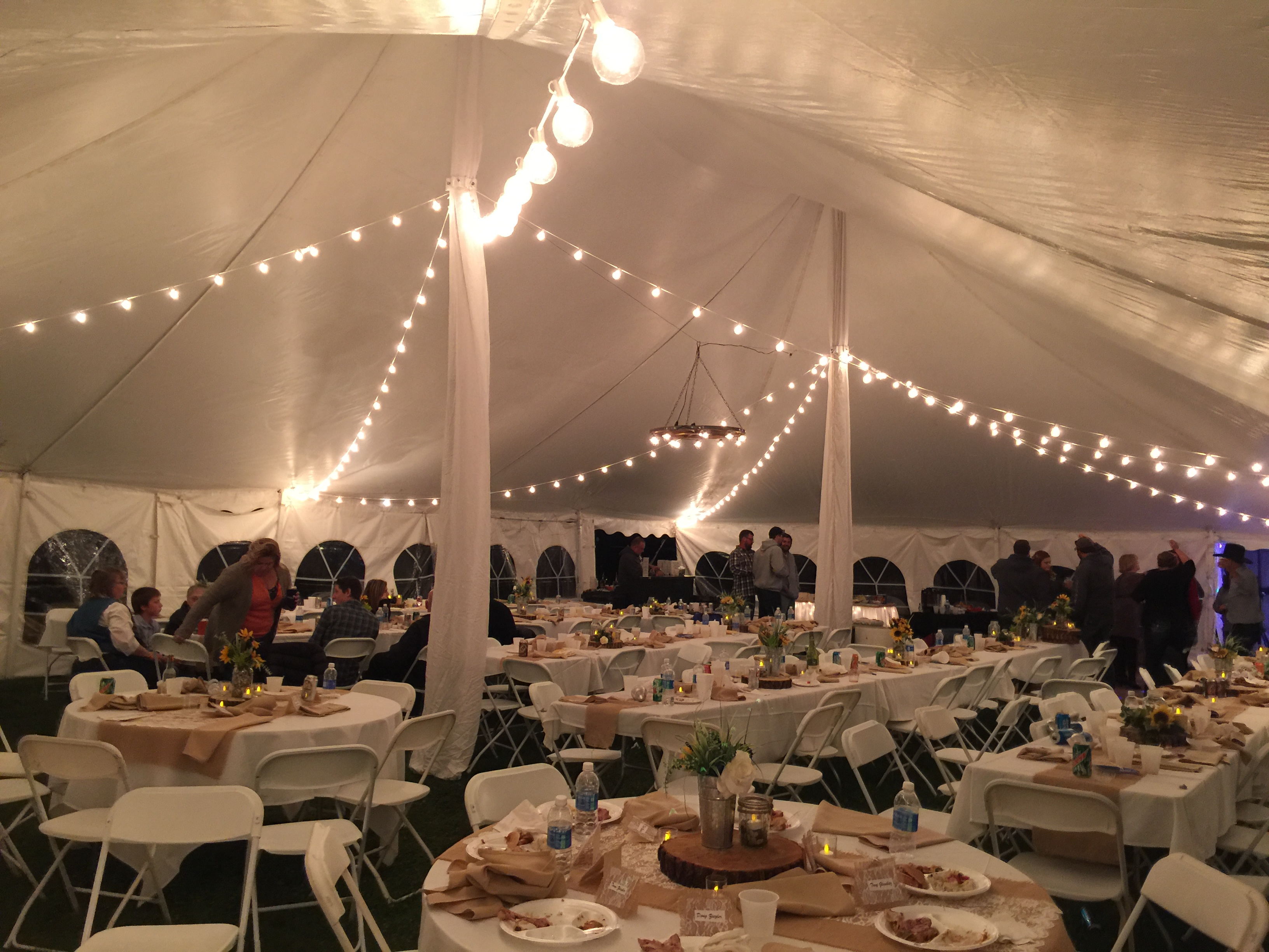 40 60 Pole Tent Wedding 4